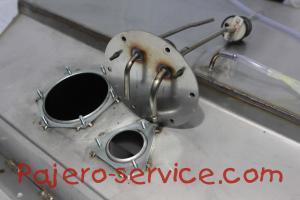 бак топливозаборник паджеро 2 нержавеющая сталь